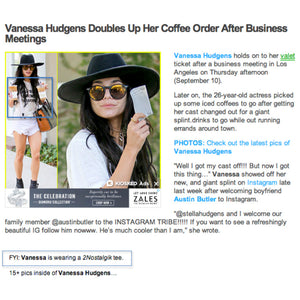 Just Jared featuring Vanessa Hudgens