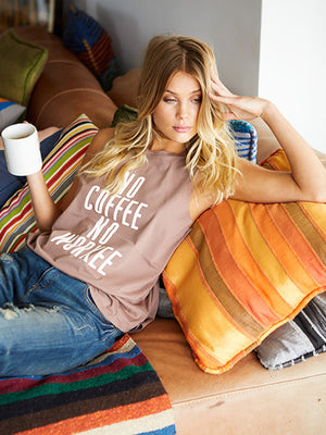 NO COFFEE NO WORKEE Brooke Muscle Tank