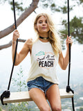 SWEET AS A GEORGIA PEACH Brooke Muscle Tank