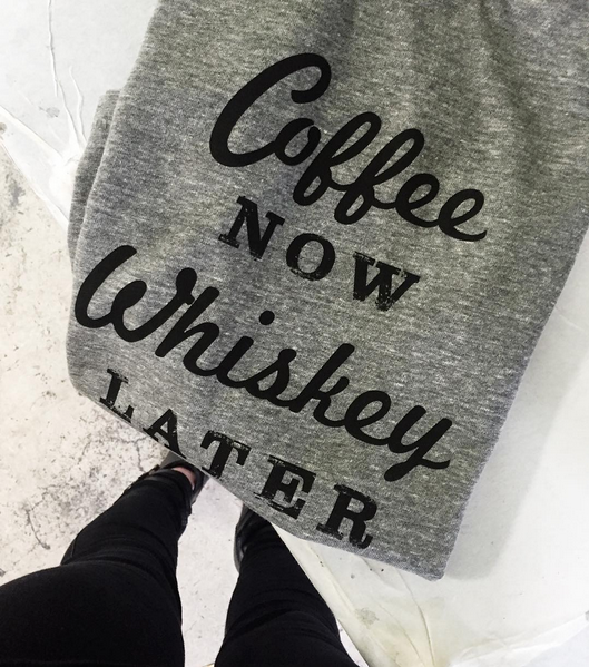 COFFEE NOW, WHISKEY LATER Earl Tee