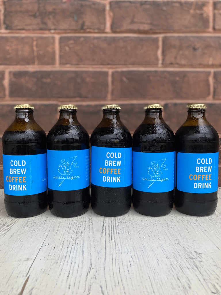 12-Pack of Cold Brew Stubby Bottles - Smile Tiger Coffee Roasters