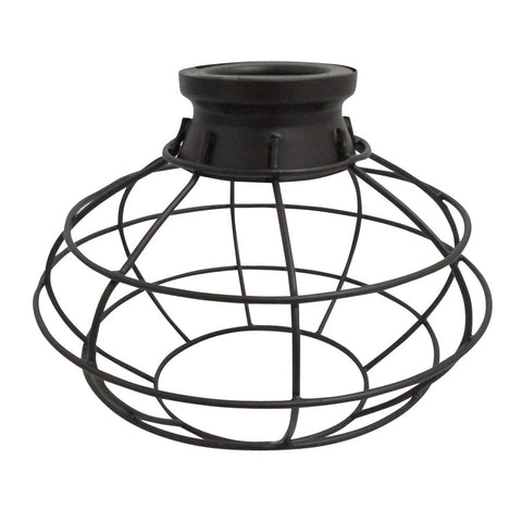 Portfolio, 6.75-in H 8-in W French Bronze Wire Industrial Cage Pendant Light Shade