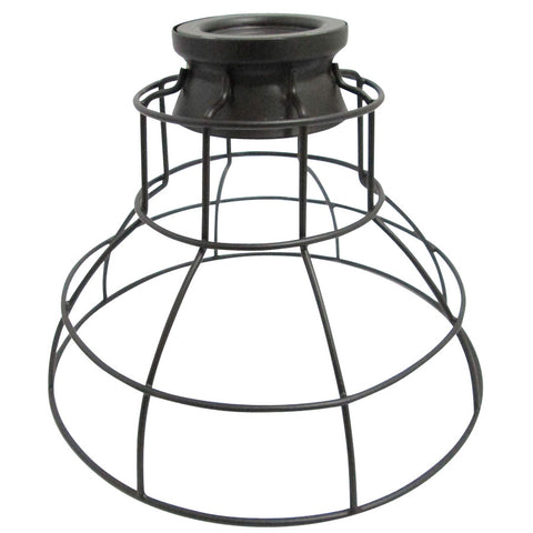 Portfolio, 6.75-in H 8.5-in W French Bronze Wire Industrial Cage Pendant Light Shade