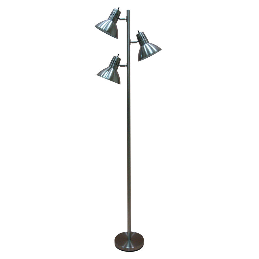 allen + roth Embleton 68-in Brushed Nickel Multi-Head Indoor Floor Lamp with Metal Shade - LED Lighthouse Inc Webstores, ALLBulb & A19LED