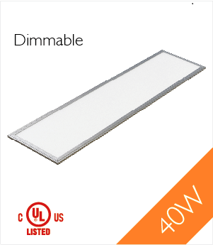 LED Panel Light,1'x4', 40W, UL, Dimmable, 5000K , LED PANEL - LED Lighthouse, A19LED.COM  - 1