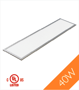 LED Panel Light,1'x4', 40W, UL&DLC, NonDimmable, 3000K , LED PANEL - LED Lighthouse, A19LED.COM  - 1