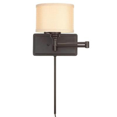 1-Light Brookhaven Swing Arm Sconce with 6 ft. Cord and 1 ft. Wire Cover - LED Lighthouse Inc Webstores, ALLBulb & A19LED