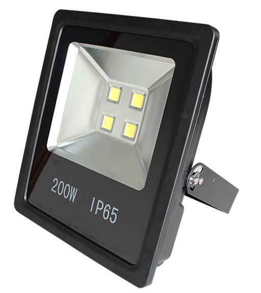 200W Outdoor LED Flood Light, Slim, Replaces 800W MH, 19000 Lumen, 3000K