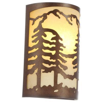 Hampton Bay, 1-Light Natural Antler Sconce , INDOOR LIGHTING FIXTURES - Hampton Bay, A19LED.COM