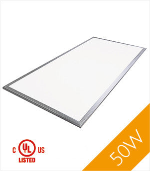 LED Panel Light, 2'x4', 50W, UL&DLC, NonDimmable, 3000K , LED PANEL - LED Lighthouse, A19LED.COM  - 1