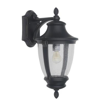 Home Decorators Collecction Wilkerson 1 Light Black Outdoor Wall Mount OUTDOOR LIGHTING