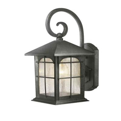 Home Decorators Collection Brimfield 1 Light Aged Iron Outdoor Wall