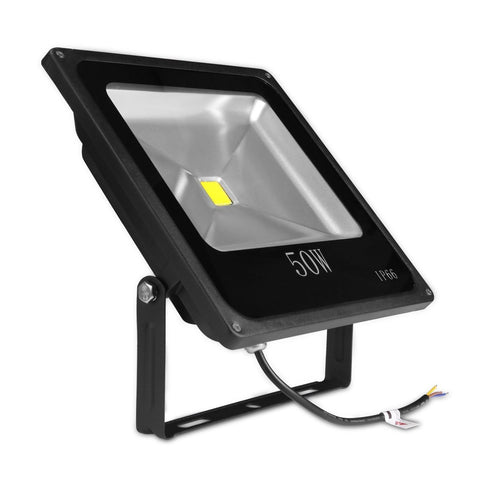 50W Outdoor LED Flood Light, Slim, Adjustable, Replaces 150W HPS Bulb, 4500 Lumen, 6000K - LED Lighthouse Inc Webstores, ALLBulb & A19LED