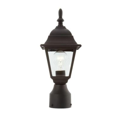 Hampton Bay, 1-Light Black Outdoor Post Lamp , OUTDOOR LIGHTING - Hampton Bay, A19LED.COM