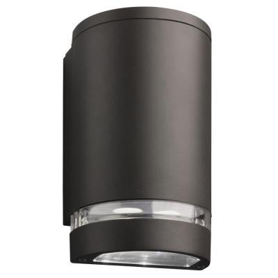 Lithonia, Bronze, LED Outdoor Wall Mount Dark Wall Cylinder Downlight , FLOOD LIGHTS - Lithonia, A19LED.COM