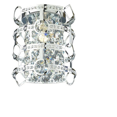 Style Selections, Kentley 7-in W 1-Light Chrome Pocket Wall Sconce