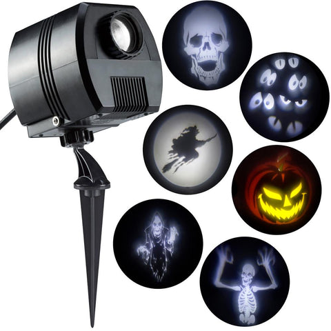 LightShow, Halloween Specter Projector-Short Circuit (White)