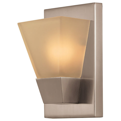 Portfolio 5.52-in W 1-Light Brushed Nickel Pocket Hardwired Wall Sconce , INDOOR LIGHTING FIXTURES - Portfolio, A19LED.COM