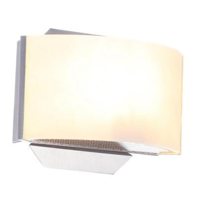 Hampton Bay, Dakota 1-Light Satin Nickel Sconce , INDOOR LIGHTING FIXTURES - Hampton Bay, A19LED.COM