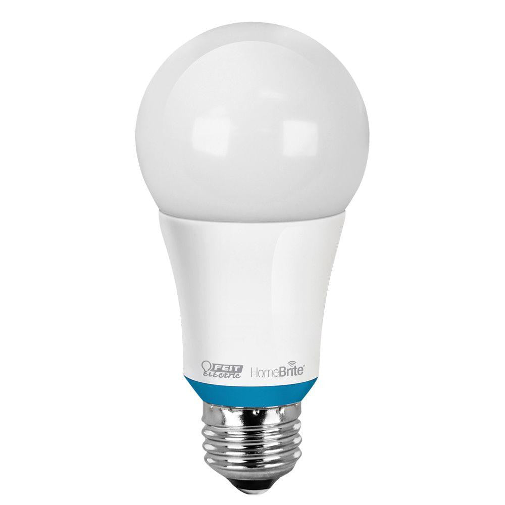 Feit 60W Equivalent Soft White A19 Dimmable HomeBrite Bluetooth Smart LED Light Bulb - LED Lighthouse Inc Webstores, ALLBulb & A19LED