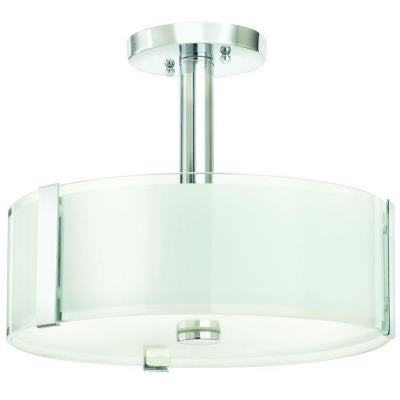 Home Decorators Collection, 3-Light, Polished Chrome, Semi Flush Mount , INDOOR LIGHTING FIXTURES - Home Decorators Collection, A19LED.COM