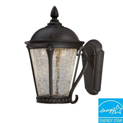 Cottrell Collection, Aged Bronze, Outdoor LED Powered Wall Lantern - LED Lighthouse Inc Webstores, ALLBulb & A19LED