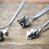 Baby Bunny Charm Necklace, Necklace, Unmarked Industries - unX Industries - artisan jewelry made in U.S.A