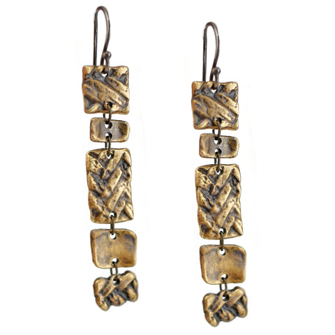 Shakey Twill Earrings, Earrings, Unmarked Industries - unX Industries - artisan jewelry made in U.S.A