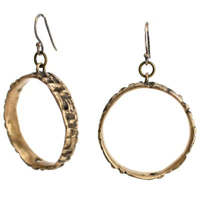 Twill Ring Earrings, Earrings, Unmarked Industries - unX Industries - artisan jewelry made in U.S.A