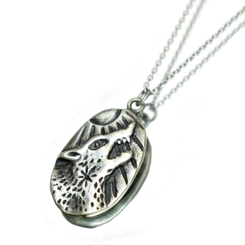Lone Wolf Necklace, Necklace, Unmarked Industries - unX Industries - artisan jewelry made in U.S.A