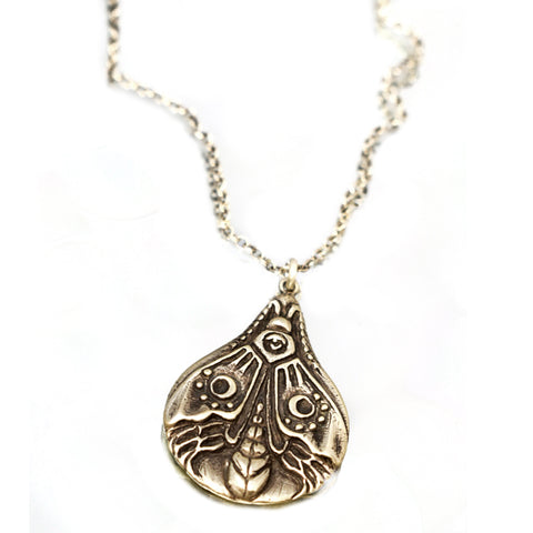 Luna Moth Necklace, Necklace, Unmarked Industries - unX Industries - artisan jewelry made in U.S.A