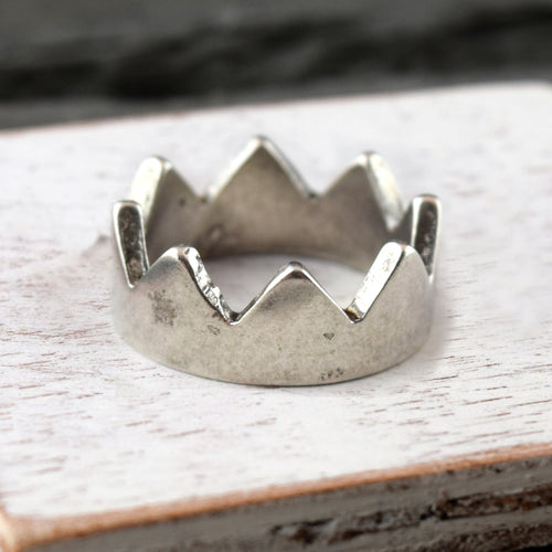 Crown Band - Silver, Ring, Unmarked Industries - unX Industries - artisan jewelry made in U.S.A