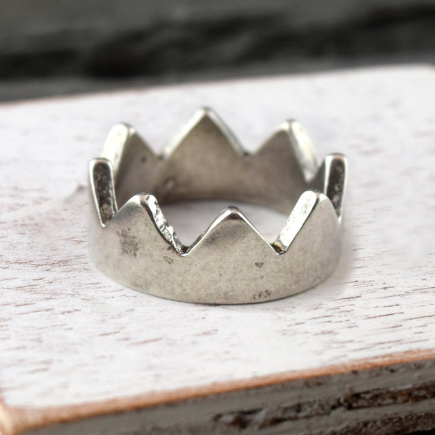 Crown band Silver, Ring, Unmarked Industries - unX Industries - artisan jewelry made in U.S.A