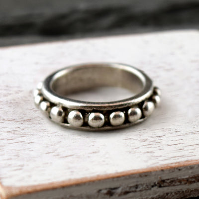 Petite Gilded Ring Silver, Ring, Unmarked Industries - unX Industries - artisan jewelry made in U.S.A