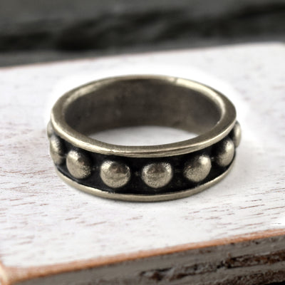 Riveted Silver Ring, Ring, Unmarked Industries - unX Industries - artisan jewelry made in U.S.A