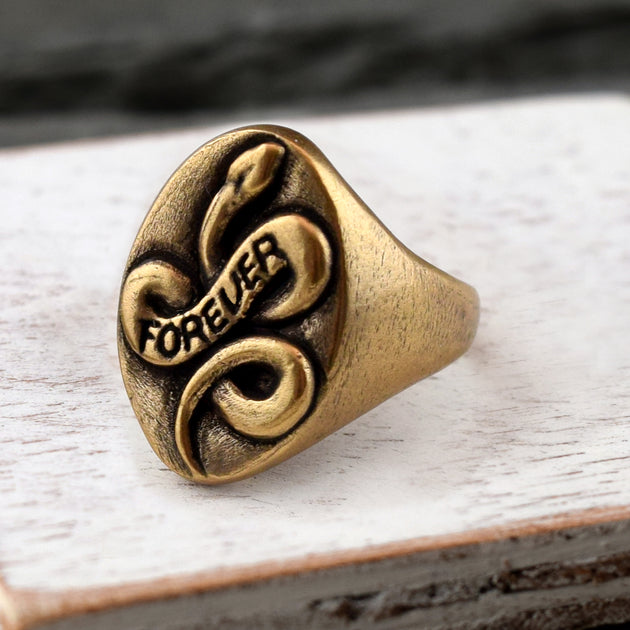 Serpent Ring Gold, Ring, Unmarked Industries - unX Industries - artisan jewelry made in U.S.A