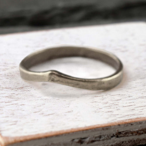 Silver Curved Band Ring, Ring, Unmarked Industries - unX Industries - artisan jewelry made in U.S.A