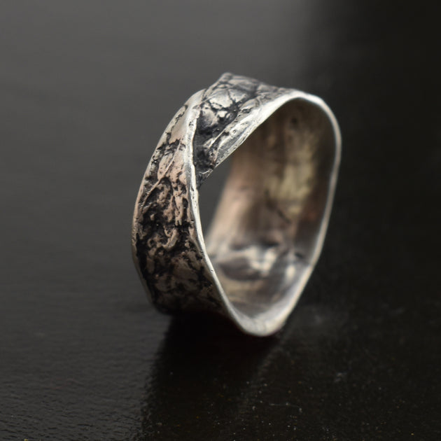 Leather Wrap Ring, Ring, Unmarked Industries - unX Industries - artisan jewelry made in U.S.A