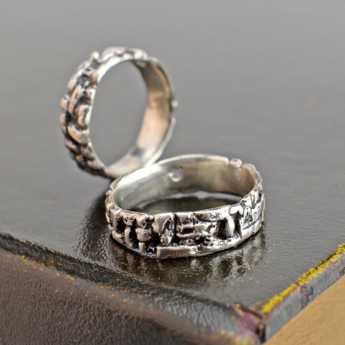 Twill Ring, Ring, Unmarked Industries - unX Industries - artisan jewelry made in U.S.A