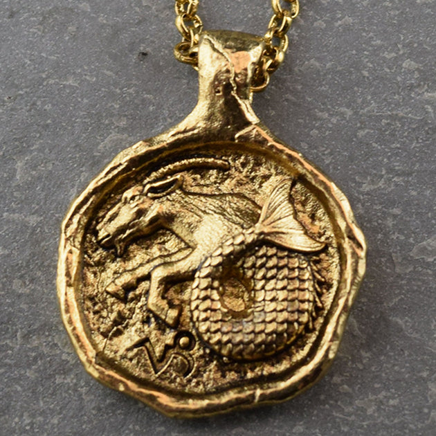Capricorn - Zodiac Necklace, Necklace, Unmarked Industries - unX Industries - artisan jewelry made in U.S.A