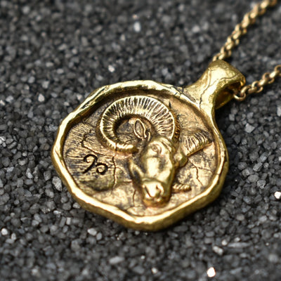 Aries Zodiac Necklace, Necklace, Unmarked Industries - unX Industries - artisan jewelry made in U.S.A