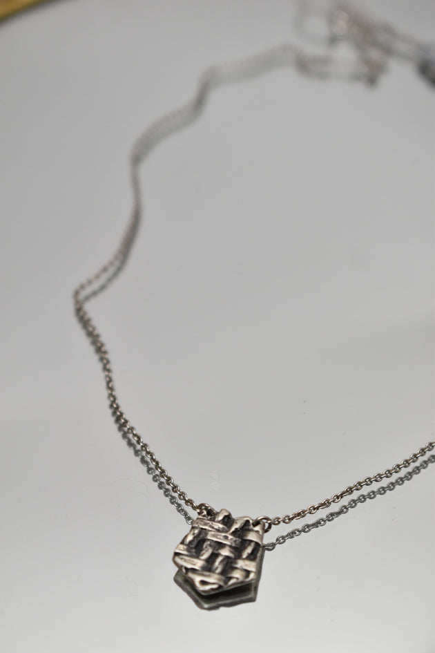 Petite Twill Necklace, Necklace, Unmarked Industries - unX Industries - artisan jewelry made in U.S.A