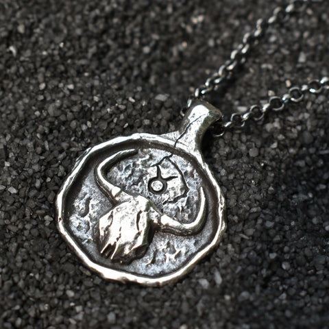 Taurus Zodiac Necklace, Necklace, Unmarked Industries - unX Industries - artisan jewelry made in U.S.A