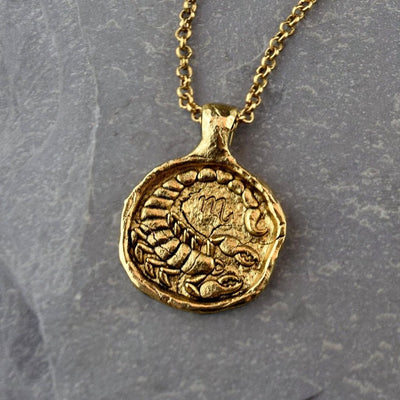 Scorpio Zodiac Necklace, Necklace, Unmarked Industries - unX Industries - artisan jewelry made in U.S.A