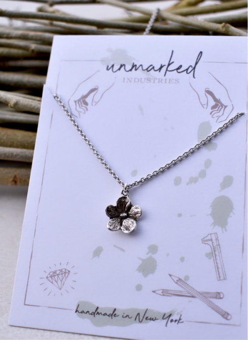 Forget-Me-Not, Necklace, Unmarked Industries - unX Industries - artisan jewelry made in U.S.A