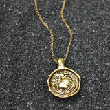 Aquarius Zodiac Necklace, Necklace, Unmarked Industries - unX Industries - artisan jewelry made in U.S.A