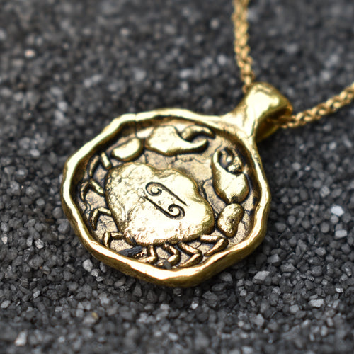 Cancer Zodiac Necklace, Necklace, Unmarked Industries - unX Industries - artisan jewelry made in U.S.A