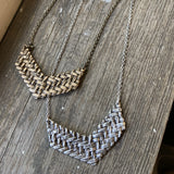 Twill Arrow Necklace, Necklace, Unmarked Industries - unX Industries - artisan jewelry made in U.S.A