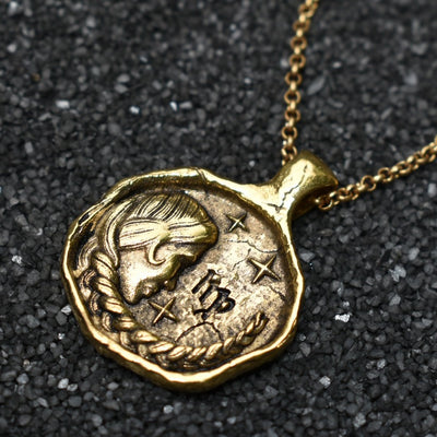 Virgo Zodiac Necklace, Necklace, Unmarked Industries - unX Industries - artisan jewelry made in U.S.A