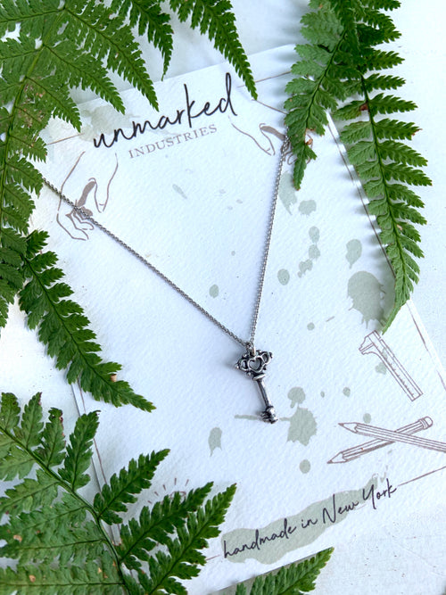 Skeleton Key Necklace, , Unmarked Industries - unX Industries - artisan jewelry made in U.S.A
